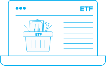 The ETF is described as a basket of different products offered as one product.