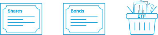 Shares, bonds and ETFs