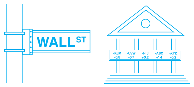 Wallstreet brokerhouses and exchanges
